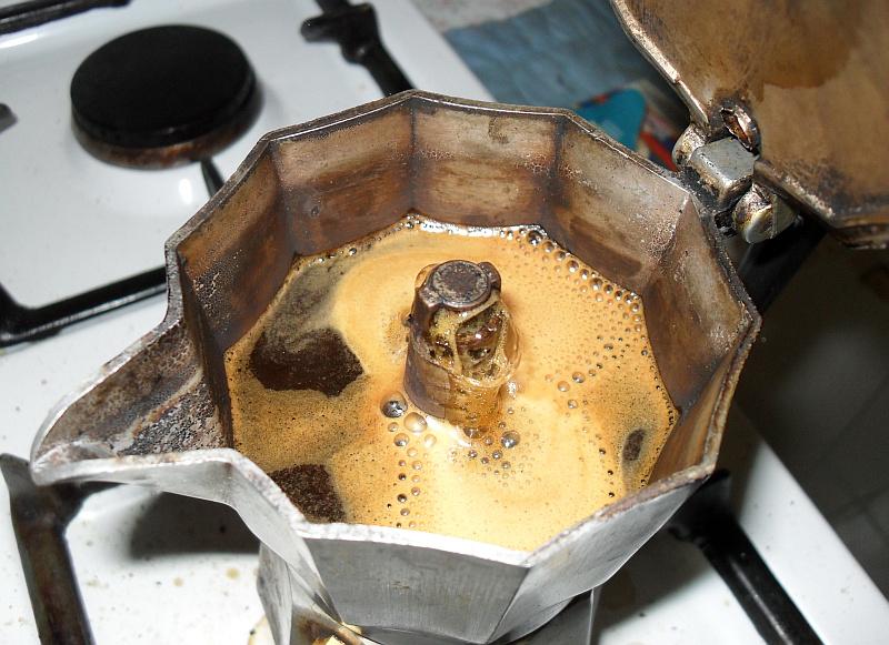 Caffe Moka In Pot With Patina